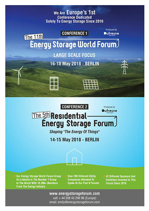 Residential energy storage forum in Berlin 2018